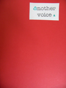 Another Voice hand stitched pamphlet with hand stitched label