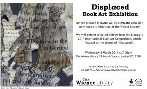 'Displaced' Book Art Exhibition